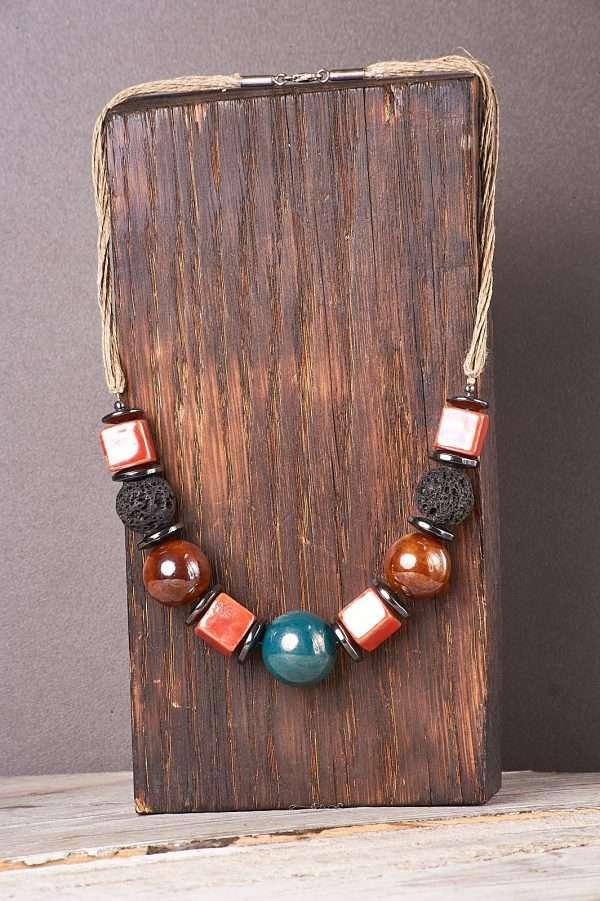 Multi Ceramic Necklace Pic 6