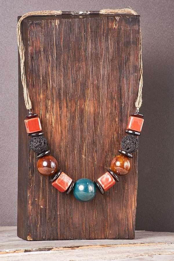 Multi Ceramic Necklace Pic 5
