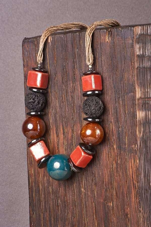 Multi Ceramic Necklace Pic 3