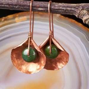 Jasper Copper Earrings