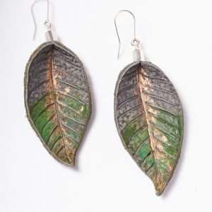 Leather Handmade Painted Earrings VI