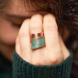 Handmade Adjustable Ring 'Patina'