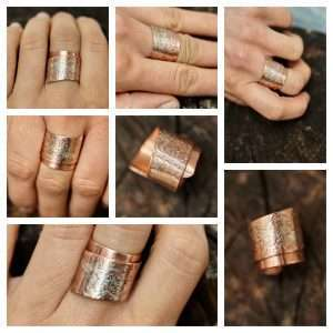Handmade Silver Touch Copper Ring