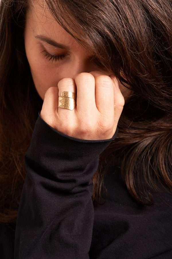 Handmade Adjustable Brass Ring