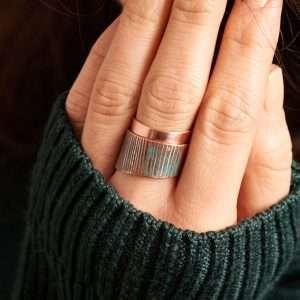 Handmade Green Patina Ring