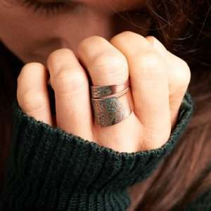 Handmade Adjustable Green Ring
