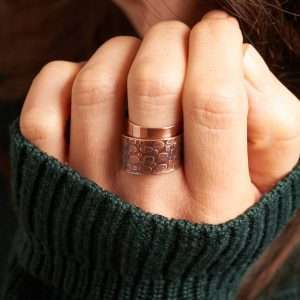Handmade Flame Copper Ring