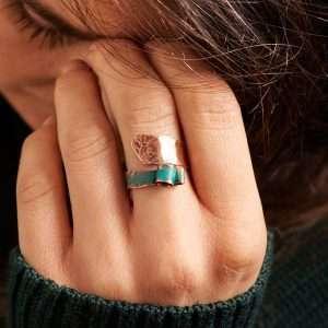 Handmade Curled Patina Ring