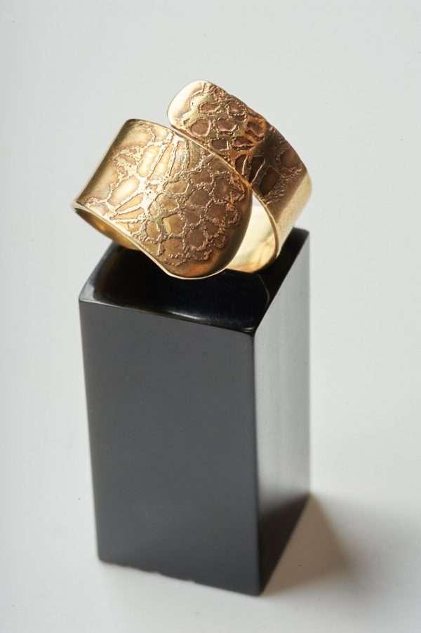 Handmade Adjustable Brass Ring product photoshoot
