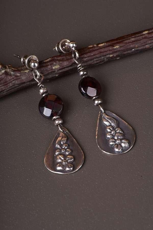 Botanic Romantic Silver Earrings Pic 2
