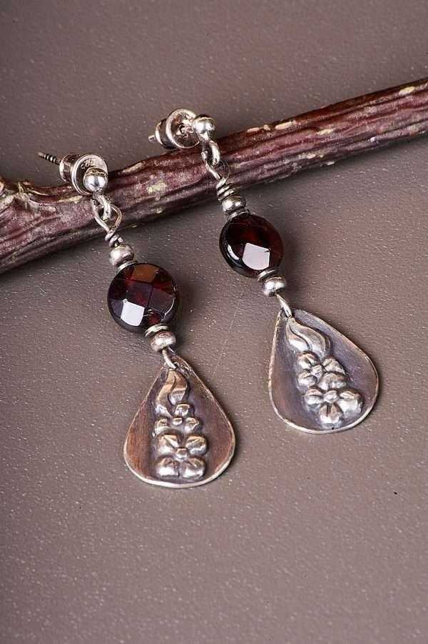 Botanic Romantic Silver Earrings