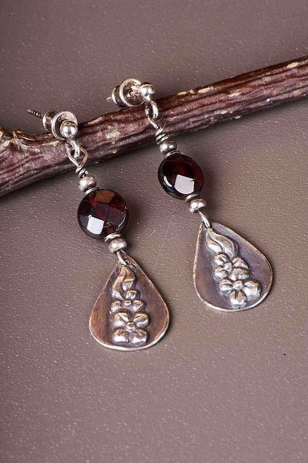 Botanic Romantic Silver Earrings Pic 6