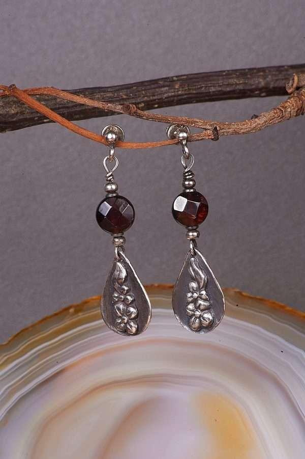 Botanic Romantic Silver Earrings Pic 4