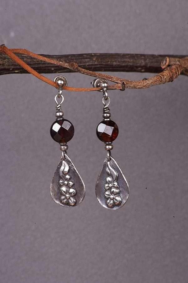 Botanic Romantic Silver Earrings Pic 3
